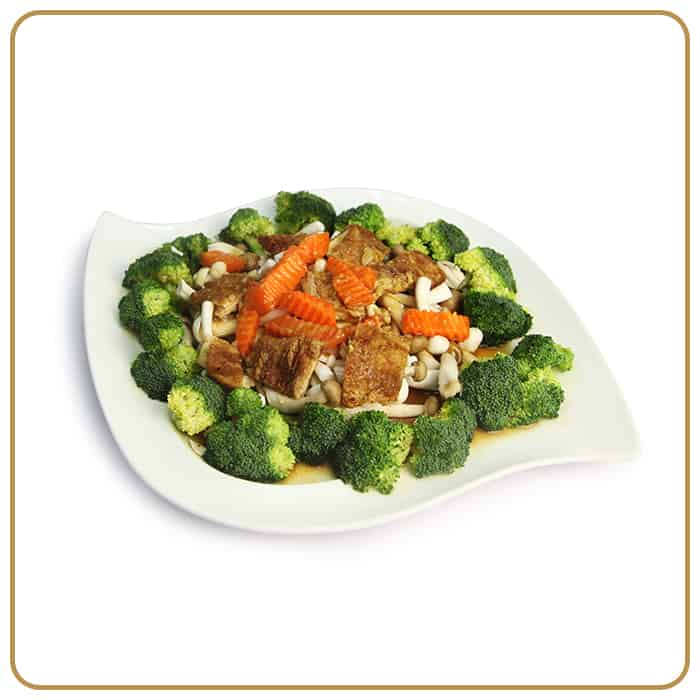 Buffet Catering - Broccoli with Assorted Mushroom & Beancurd