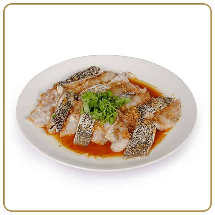 Wedding Banquet Dinner - Steamed Dragon Grouper Fillet with Superior Soy Sauce & Garlic Paste