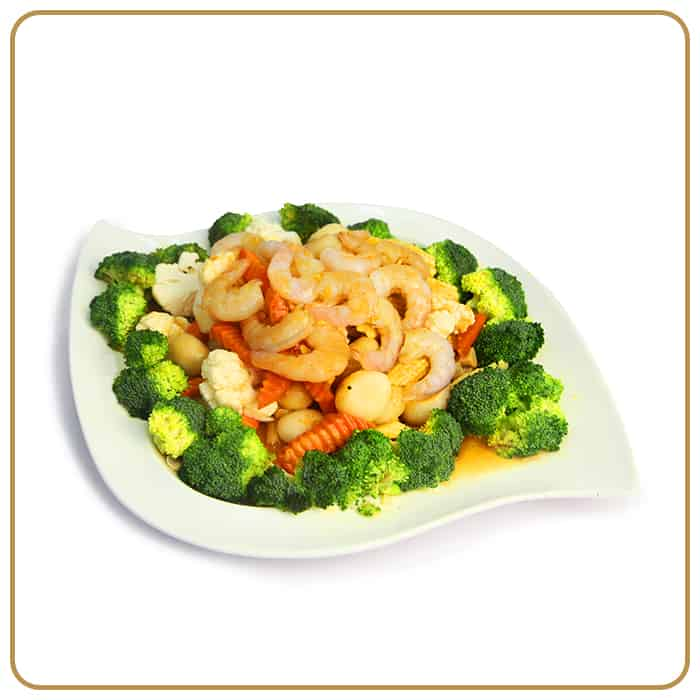 Buffet Catering - Fried Seasonal Vegetables with Shrimp