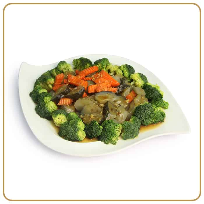 Buffet Catering - Vegetarian Seafood with Broccoli