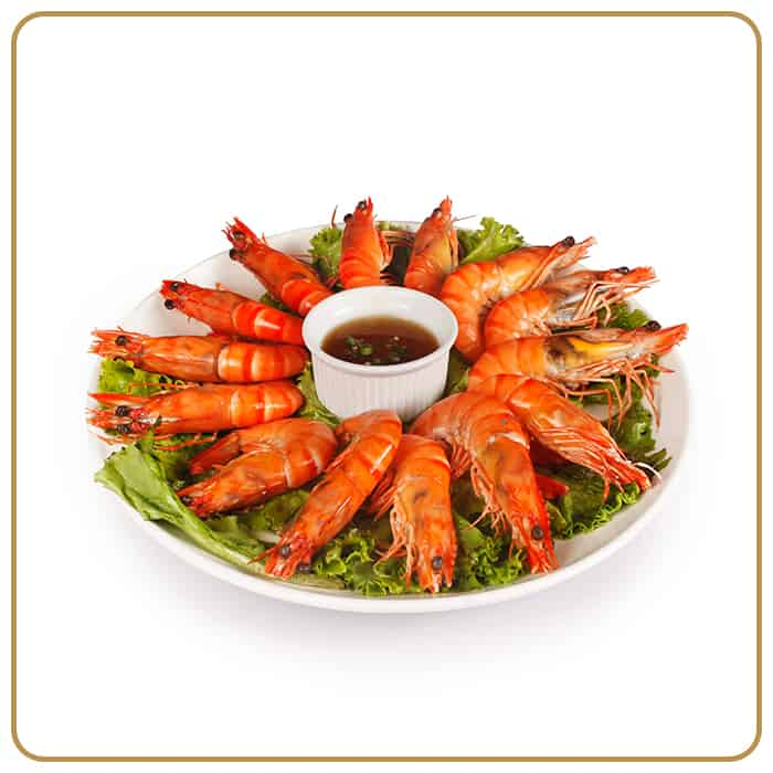 Wedding Banquet Dinner - Scalded Fresh Tiger Prawns