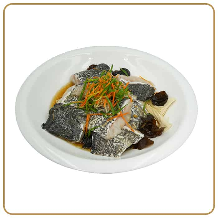 Wedding Banquet Dinner - Steamed Giant Grouper with Black Fungus