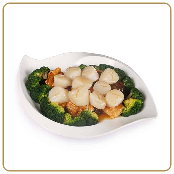 Wedding Banquet Dinner - Scallop Cooked with Seasonal Vegetables