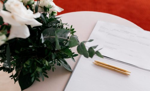 Details of a registration marriage